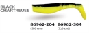WIZARD KILLER SHAD 7CM BLACK/CHARTREUSE - фото 6762
