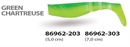 WIZARD KILLER SHAD 7CM GREEN/CHARTREUSE - фото 6763