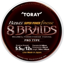 Toray BAWO SUPER POWER FINESSE 8 BRAIDS 150м 0,128мм - фото 7093